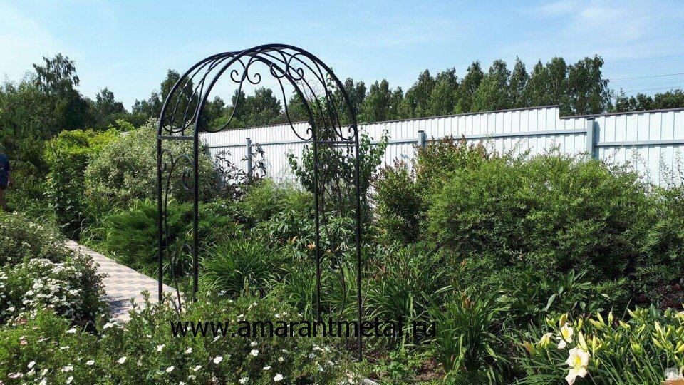 ef33fabe040bf Кованая арка для цветов, цена в Москве от компании АМАРАНТ