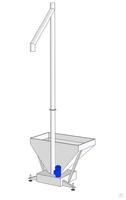Вертикальный шнековый транспортер для муки госты для водоструйного элеватора
